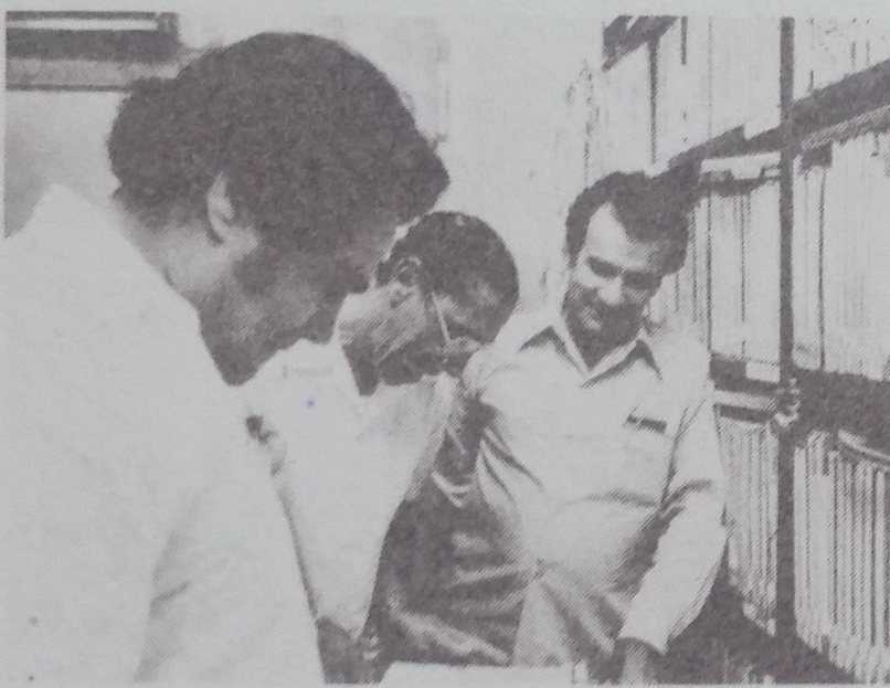 Alfredo Sadel with Luis Yáñez and Medardo Montero